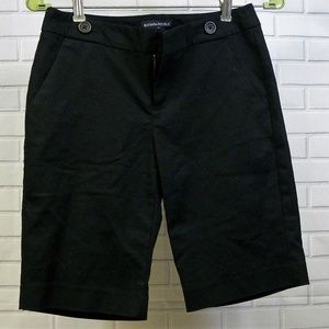 Banana Republic Black Stretch Dress Shorts Sz 0